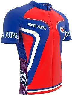 North Korea Full Zipper Bike Short Sleeve Cycling Jersey for Men