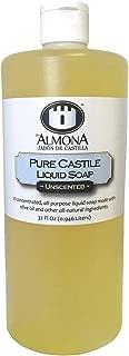 La Almona - Pure Castile Liquid Soap (Unscented), 32 Oz