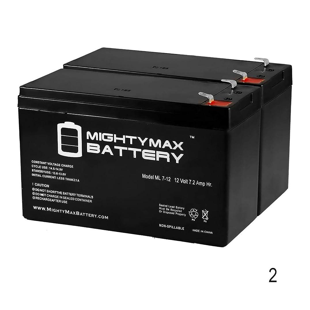 北方ベーコンの配列12?V 7.2?AHバッテリーfor Razor EcoSmart Metro電動スクーター?–?2パック?–?Mighty Maxバッテリーブランド製品