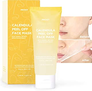 Calendula Peel Off Mask | With Herbal Infused Brightening Serum | Formulated with Real Calendula Flower Leaves and Extract...