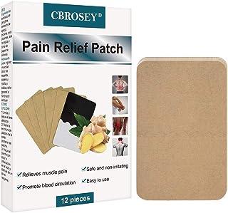 Pain Relief Patch, Unguento Para el Dolor, Almohadillas De Calor Autoadhesivas Promueven La Circulación Sanguínea Alivia La Inflamación Músculos Articulaciones Alivio Del Dolor, Paquete de 12