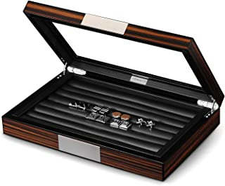wooden cufflink box for 24 pairs