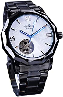 Men Transparent Skeleton Dial Analog Wrist Watches Fashion Luxury Automatic Mechanical Watch