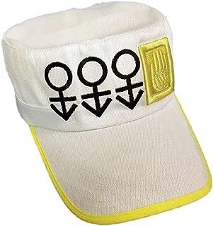 GK-O Anime Jojos Bizarre Adventure Jotaro Kujo Cap Hat Part 4 Diamond is Unbreakable Cosplay Costume White