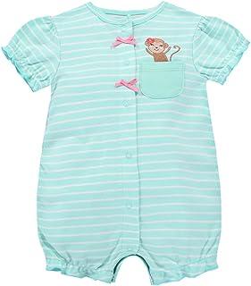 Bebé Niñas Mono Mameluco - Pijamas Bebé Peleles Algodón Mameluco Monos Manga Corta Bebé Body, 0-3 Meses