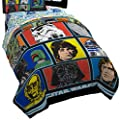 "Star Wars Classic Grid 2 Microfiber 64"" x 86"" Twin Comforter"
