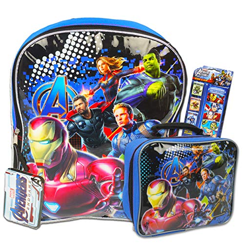 Marvel 35708 Avengers 5 Piece Backpack with Lunch Bag, Multicolor