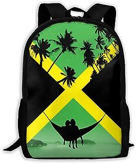 BUGKHD Mochilas de viaje con diseño de la bandera de Jamaica, de Coconut Tree, duraderas, para laptop, mochila, bolso de h...