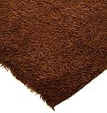 Gelockt Teddy Kunstfell Stoff Material–Malt braun
