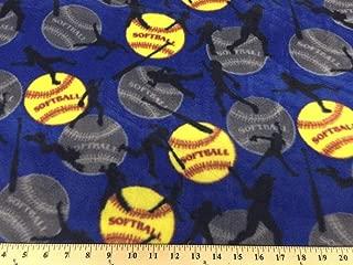 Softball Blue Fleece 478 (Blue) Sold by The Yard
