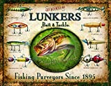 Desperate Enterprises Lunker's Lures Tin Sign, 16' W x 12.5' H