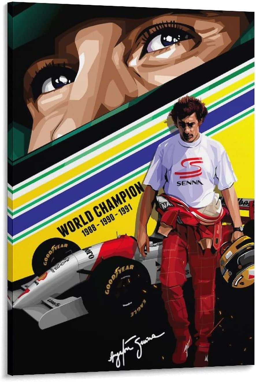 HESHUI Wall Art High quality new for Living Room Sale Canvas Ayrton A Senna Large Size