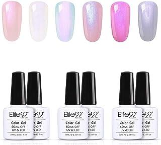 Elite99 Nail Gel Polish 6pcs Shell Beach UV LED Soak Off Nail Laquer Color Manicure Art 10ml