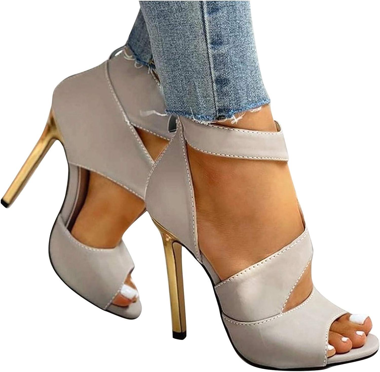 Padaleks Women's All items free shipping Save money Stilettos High Heels Party Sandal Toe Peep Pump