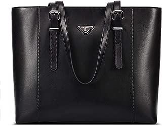 black leather briefcase women's