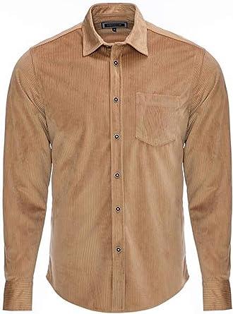 CARISMA Camisa de pana para hombre, 2 colores CRM8477: Amazon ...