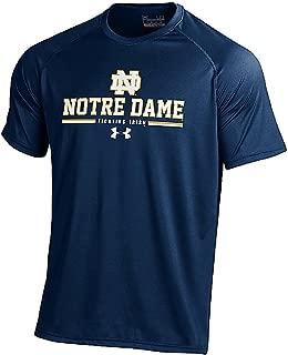 Notre Dame Fighting Irish Blue Hi-Tech Short Sleeve HeatGear T Shirt