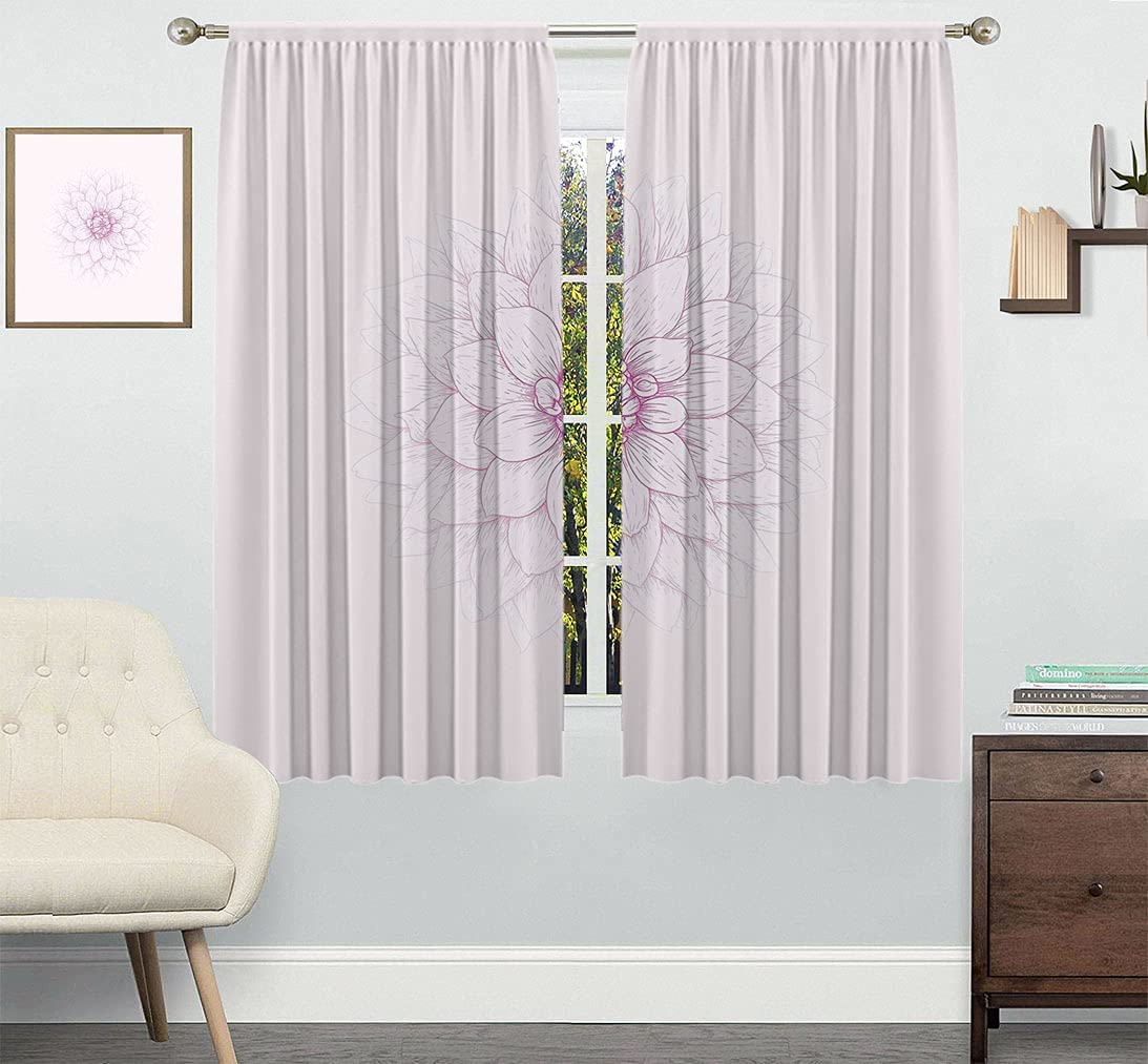 Bargain sale Dahlia Customized Curtain Ghastly Flower Appearing Close Limited time for free shipping
