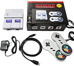 GUSENG SUPER MINI SNES NES Retro Classic Video Game Console TV Game Player Built-in 821 Games with Dual Gamepads