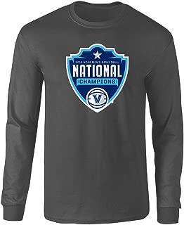 Elite Fan Shop Villanova Wildcats Championships Long Sleeve T Shirt Basketball 2018 Heather Gray Crest