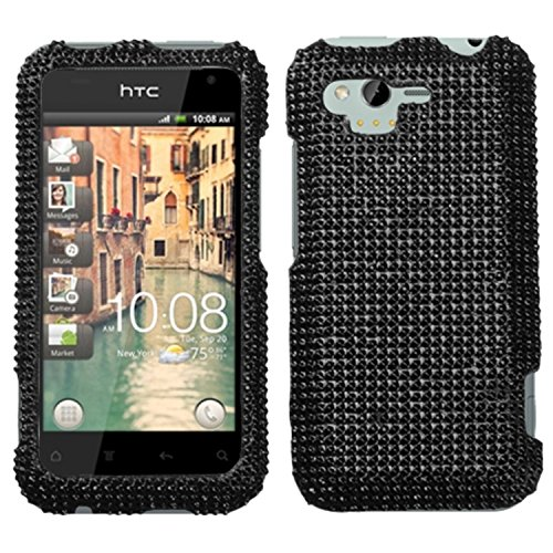 Asmyna HTCADR6330HPCDMS003NP Dazzling Luxurious Bling Case for HTC Rhyme ADR6330 - 1 Pack - Retail Packaging - Black