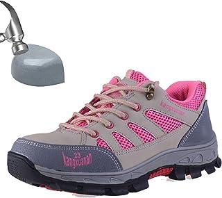 32d954fbc84 SUADEEX Mujer Hombre Zapatillas de Seguridad Punta de Acero Zapatos de  Trabajo Entrenador Unisex Zapatillas de