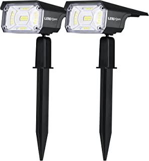 LEREKAM Solar Spot Lights Outdoor, IP65 Waterproof 40 LEDs Solar Landscape Spotlights,USB & Solar Powered Wall Lights Dark...