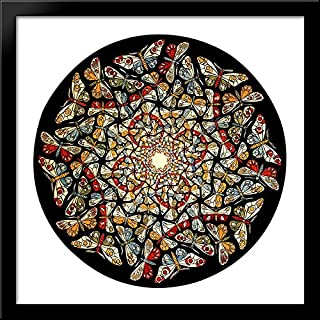 Circle Limit with Butterflies 28x28 Large Black Wood Framed Print Art by M.C. Escher
