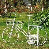 William 337 Cavalletto per Fiori in Ferro battuto Cavalletto per Fiori Creativo per Biciclette Stand Multistrato per Piante