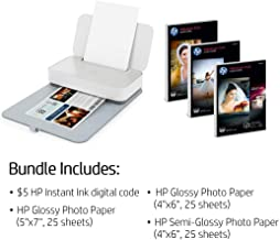HP Tango X Smart All-in-One Printer with Remote Wireless Printing, Bundled with 75 Sheets Photo Paper & $5 HP Instant Ink for Ink Delivered to Your Home