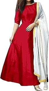 DIVYA FAB Women Multi gown salwar suit type lehenga choli(Salwar suit_Free_Size)