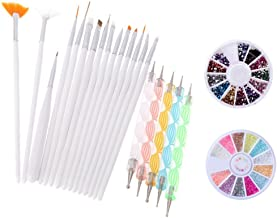 Yimart® Pack of 20,Nail Art and Gel Acrylic Drawing Painting Brush Set with Dotting Pen Tools (E) (Nail Art Brush A)