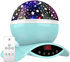 Amouhom Sterrenhemel projectorlamp met afstandsbediening, led-nachtlampje met oplaadbare batterij, 360 graden draaien en t...