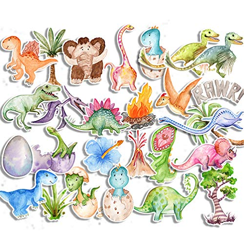 Small&Cute Dinosaur Stickers for Reward Kids Toddlers Boys Girls/Jurassic Dino Decals for Party Favor Supplies DIY Craft Gift/Cool Stickers for Laptop Water Bottle Scrapbook Planner Journal (27 PCS)