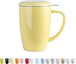 LOVECASA Tazas de Té con Tapa y Filtro Acero Inoxidable 450
