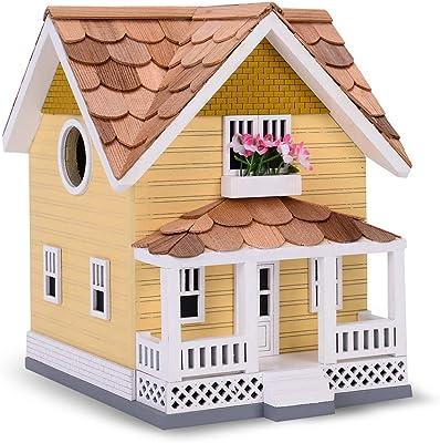 Outdoor Wooden Birdhouse - Golden Craftsman