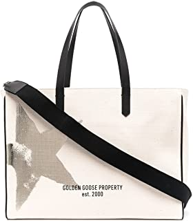 Golden Goose Luxury Fashion Damen GWA00173A00010410272 Weiss Baumwolle Tote | Jahreszeit Permanent