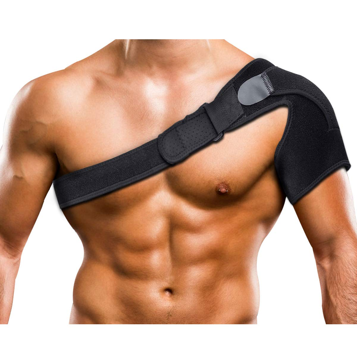 Bursitis Rotator Cuff Support Stability Wrap for Dislocated AC Joint Tendonitis Arthritis Labrum Tear Shoulder Support for Women and Men Shoulder Compression Sleeve