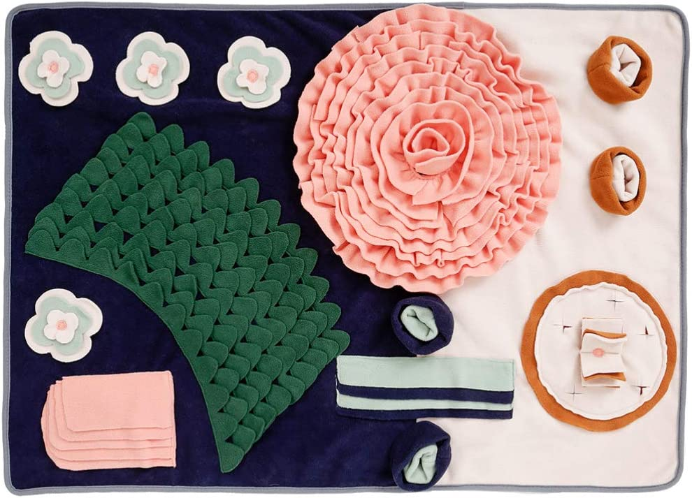 POPETPOP Popular brand in the world Flower Dog Snuffle Mat To for Fixed price for sale Dogs Blanket Nosework