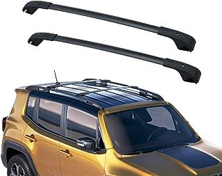 2 Pack YITAMOTOR CEETCB-0015 Black Roof Rack Cross Bars for 2014-2019 Toyota Highlander XLE Crossbars Cargo Bag Rooftop Luggage Carrier for Canoe Kayak Bike