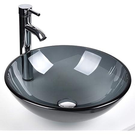 Aawang Deck Mount Basin Bathroom Faucets Vanity Vessel Sinks Mixer Bath Brass Faucet Tap White