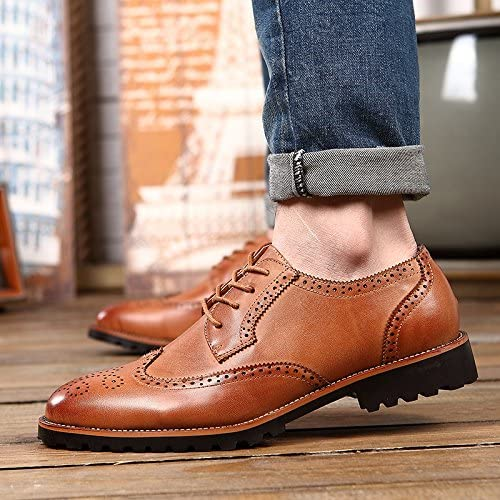 LOVDRAM Chaussures Hommes New Italian Brock Chaussures Hommes Retro Fashion Wild Souliers