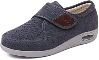 B/H Pantoufles pour Femmes Edema Swollen,Plus Chaussures Chaudes en Velours pour Les Personnes âgées, Chaussures Pieds gon...