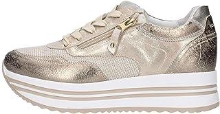 Nero Giardini Sneaker Platform Pelle Laminata Oro
