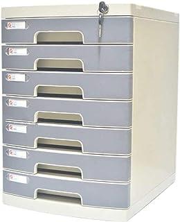 LIUYULONG Armoire de rangement pour fichiers, armoire de bureau, tiroir en plastique avec verrouillage/étiquette vierge et...