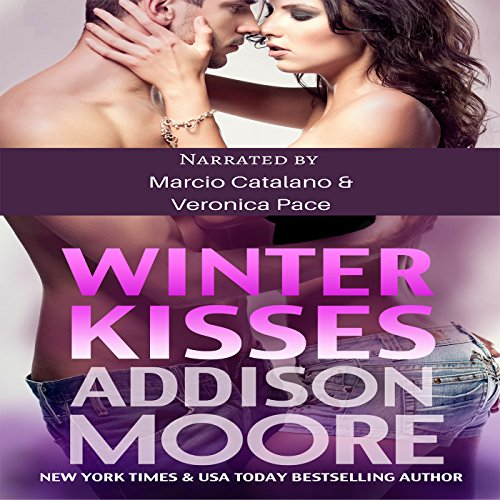 Winter Kisses audiobook cover art
