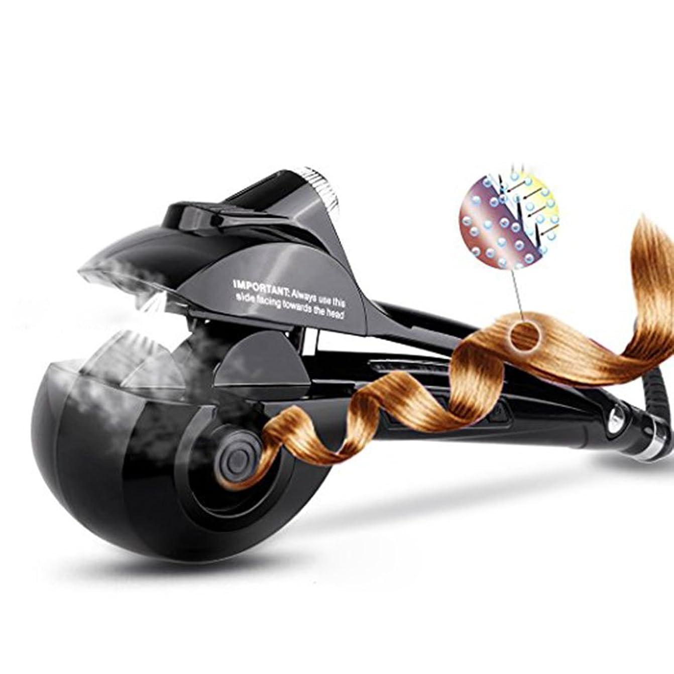 収穫先史時代のこねるオートカールアイロンREAK ヘアアイロン カール オートカールヘアアイロン スチームヘアアイロン アイロン蒸気 8秒自動巻き 自動巻きヘアアイロン スチーム機能 プロ仕様 海外対応 日本語説明書付き (黒)