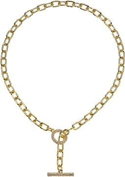 "18"" Front Pave Toggle Necklace"