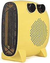 HBHHB 2000W Calefactor De Aire Caliente Vertical Y Plana 3 Temperatura Control De Temperatura Automático Estufa Electrica Doble Protección para Cuarto/Baño/Oficina 25 * 23 * 12Cm,Amarillo