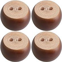 BQLZR 4 cm de hauteur Blanc wood rond de 6.7 cm de diam/ètre Pieds de meubles Pieds Roulement 100 kg Poids Lifter pour canap/és Lits Armoires Tables Lot de 4